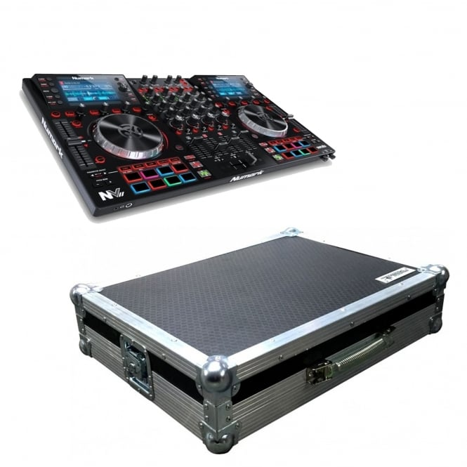 Numark NVII Intelligent Dual-Display controller for Serato DJ & Case Bundle