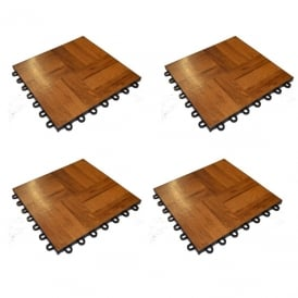 pack of 4 tiles wood effect