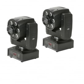 PAIR G30-W6 Moving Heads Gobo Wash Effect Bundle