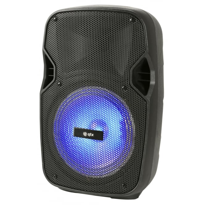 QTX PAL8 Portable PA with Bluetooth® and LED FX, Garden, BBQ Party Speaker