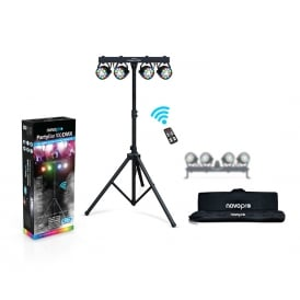 Partybar 100 DMX 48w RGBW, remote controlled lighting rig with bag
