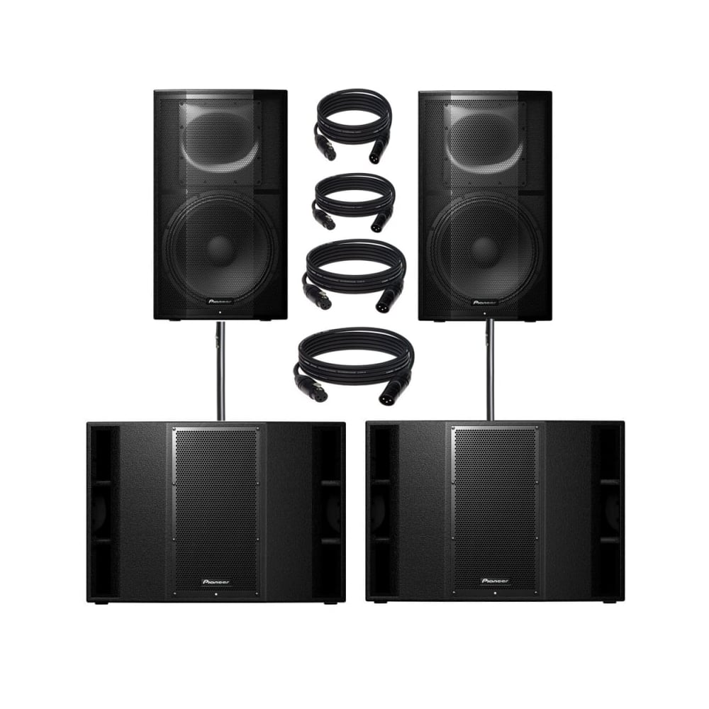 PXPRS-15 & xprs 215 9600W Active PA Speaker with Powersoft Amplification  Bundle