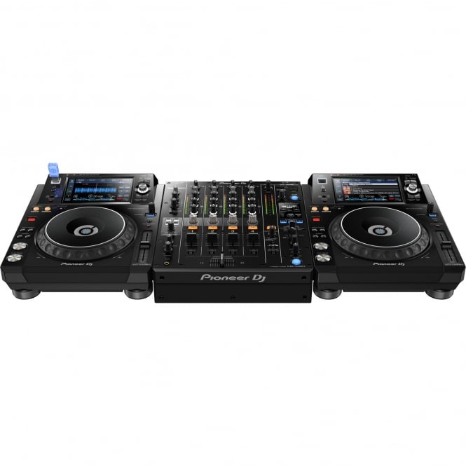 Pioneer DJ Pioneer DJM-750 Mk2 Professional 4-channel Mixer & 2 XDJ-1000MK2 With Rekordbox DJ DVS License Bundle