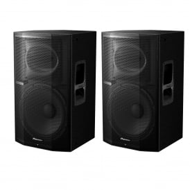 Pioneer XPRS-15 2400W Active PA Speaker with Powersoft Amplification Bundle EX-DISPLAY