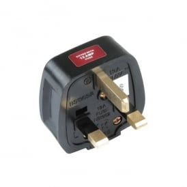 Plug Top 13Amp - 13Amp Fused Rubber Black BS1363