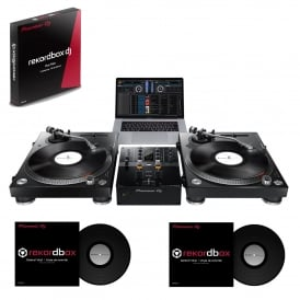 PLX-500 Turntable and DJM-250 MK2 and timecode vinyl Bundle