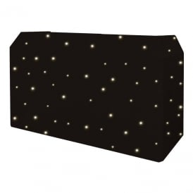 PRO DJ Booth LED Starcloth System, Black Cloth, WW