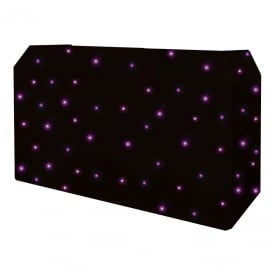 PRO DJ Booth Tri LED Starcloth System, Black Cloth