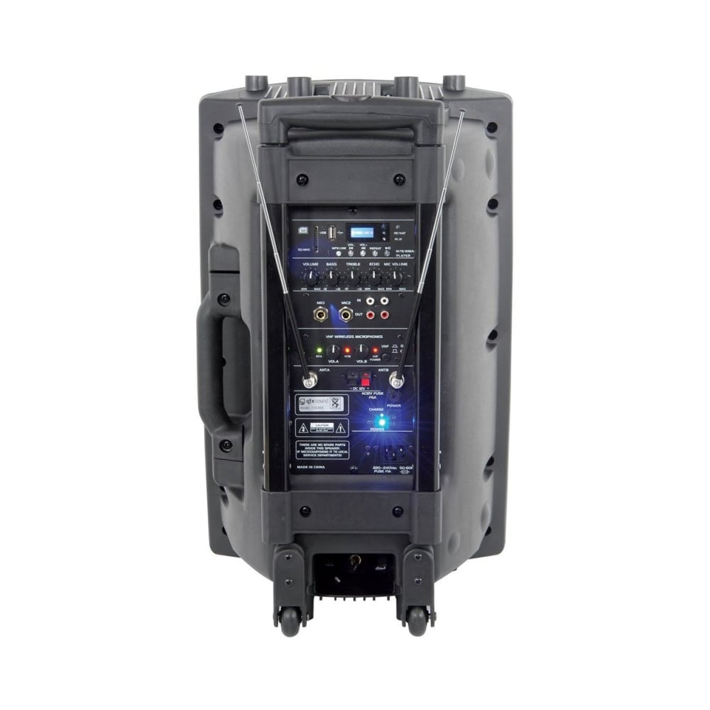 sound system battery. qr12pa , aerobic battery powered portable pa sound system