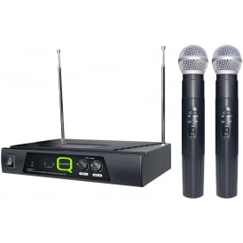 QWM 11 Twin channel VHF wireless microphone system