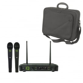 QWM 1932 HH Professional finish fixed frequency UHF wireless microphone system & Bag Bundle