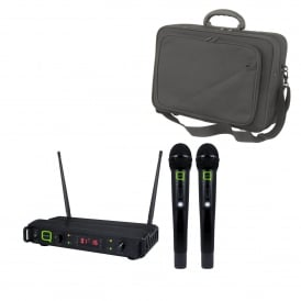 QWM 1940 HH Professional finish 16 channel UHF wireless microphone system and Bag Bundle