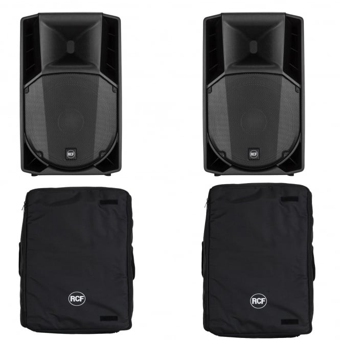 RCF Professional Audio RCF ART 715A MK4 PAIR & Cover Bundle