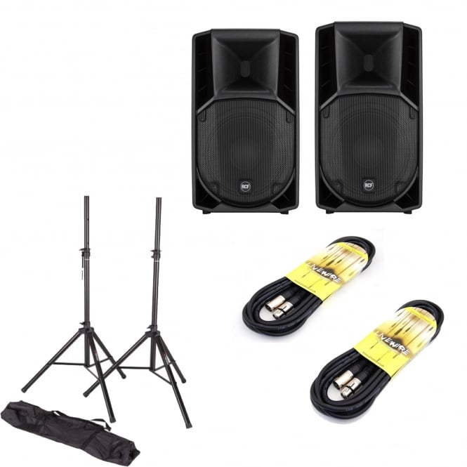 RCF Professional Audio RCF ART712A MK4 & stands and cables Bundle