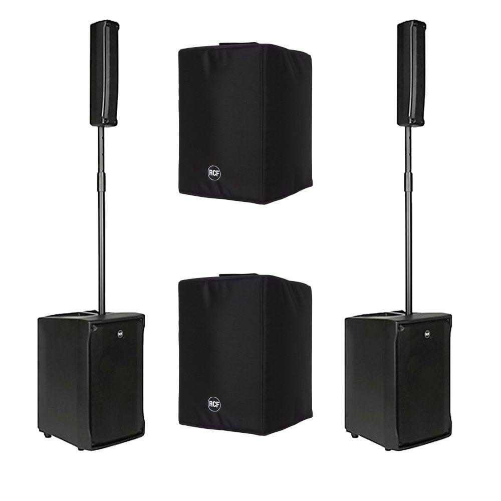 RCF Evox J8 1,400W Active Two-Way Array Speaker Bundle