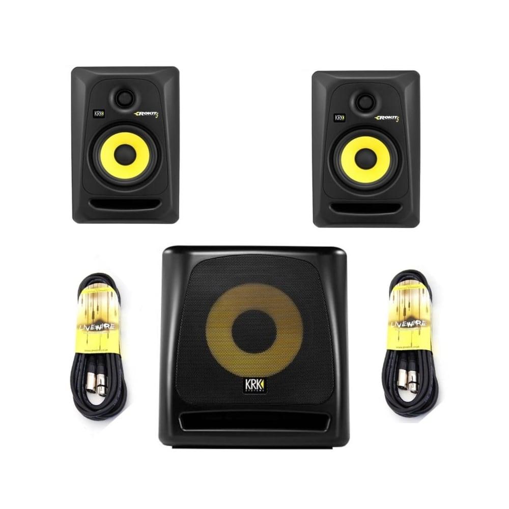 krk krk rokit 5 g3 active studio monitor 39 s 10s g2 active subwoofer bundle studio from phase. Black Bedroom Furniture Sets. Home Design Ideas