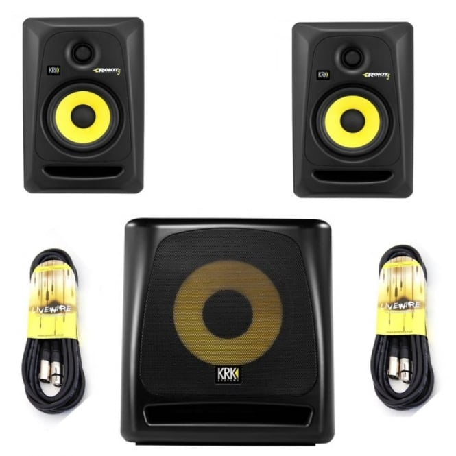 KRK Rokit 5 G3 active studio Monitor's &10S G2 Active Subwoofer Bundle