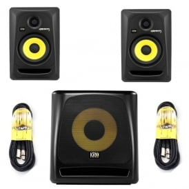Rokit 5 G3 active studio Monitor's & KRK 10S G2 Active Subwoofer Bundle