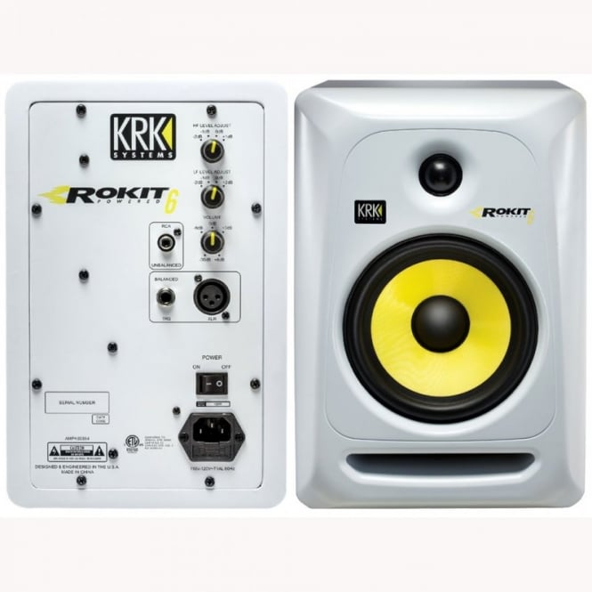 KRK ROKIT 6 G3 studio monitor limited edition white version