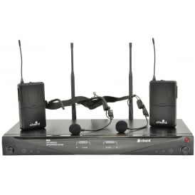 RU2 Dual UHF Microphone System Headbands and Body Packs