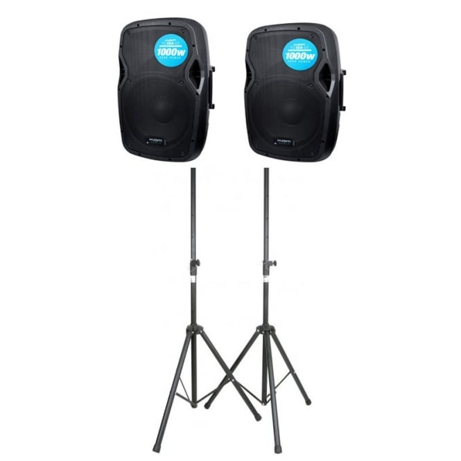 Kam RZ12A V3 PAIR With Stands Bundle