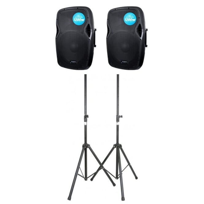 Kam RZ15A V3 PAIR With stands Bundle