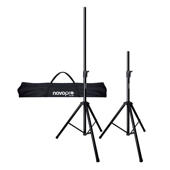 NovoPro SS3R A pair of premium speaker stands with air cushioning, auto-lock ratchet system & Bag