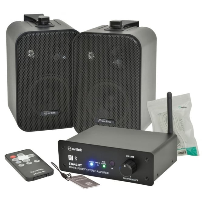 av:Link STA40-BT Amplifier and B30 Speakers Package