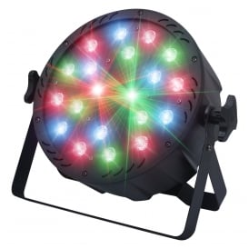 StarWash LED Uplighter with Red & Green Laser