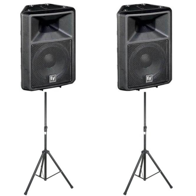EV Sx300E 12-inch two-way full-range loudspeaker - PAIR WITH STANDS