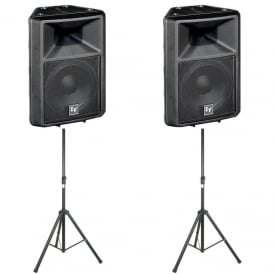 Sx300E 12-inch two-way full-range loudspeaker - PAIR WITH STANDS