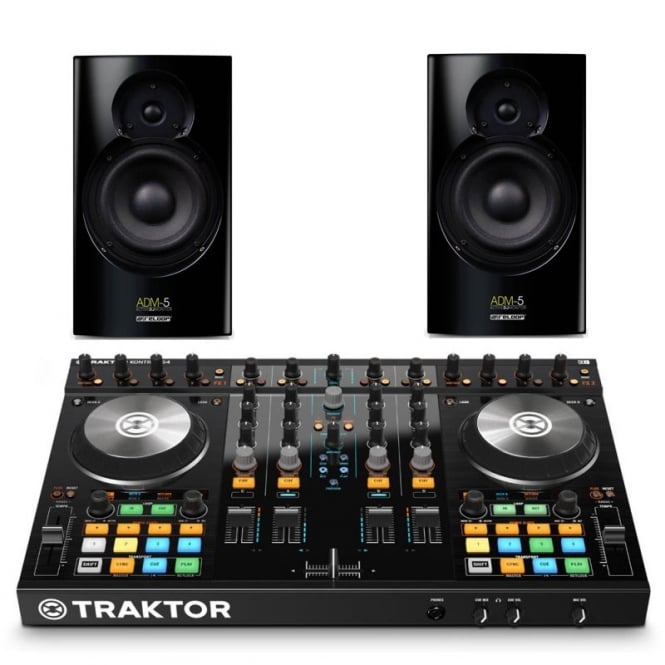 Native Instruments Traktor Kontrol S4 mk2 midi controller with Reloop ADM-5 Bundle