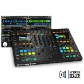 Traktor Kontrol S8 with full version of Traktor Scratch Pro 2 FREE DECKSAVER