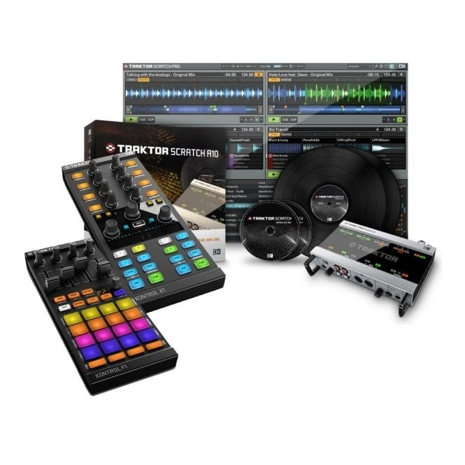 Native Instruments Traktor Scratch A10, Kontrol F1 And Kontrol X1 mk2 Bundle Package