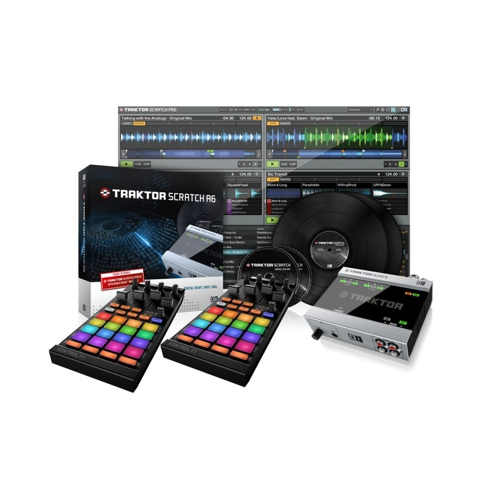 native instruments traktor scratch a6 digital vinyl system and 2 x kontrol f1 bundle. Black Bedroom Furniture Sets. Home Design Ideas