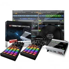 Traktor Scratch A6 Digital Vinyl System and 2 x Kontrol F1 Bundle