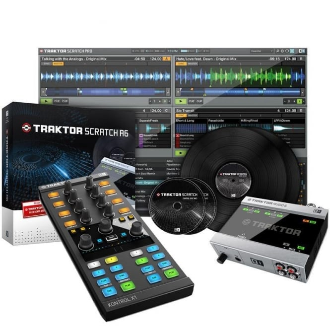 Native Instruments Traktor Scratch A6 Digital Vinyl System withTraktor Kontrol X1 Mk2