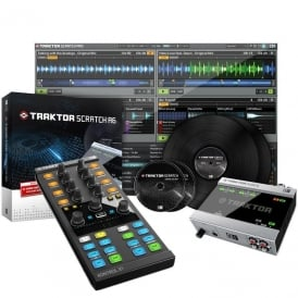 Traktor Scratch A6 Digital Vinyl System with Native Instruments Traktor Kontrol X1 Mk2