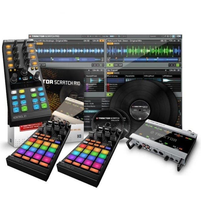 Native Instruments Traktor Scratch Pro 2 A10 Audio Interface Digital vinyl DJ system Bundle
