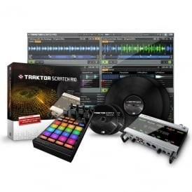 Traktor Scratch Pro 2 A10 Audio Interface Digital vinyl DJ system with Kontrol F1 Bundle