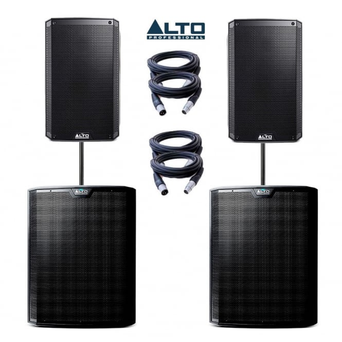 Alto Profesional Audio TS215 & TS218S Disco & Band Package