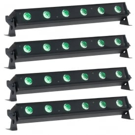 Ultra Bar 6 LED Tri colour uplighter bundle