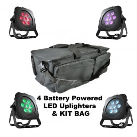 ULTRA GO PAR7X battery powered uplighting package Bundle
