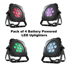 ULTRA GO PAR7X battery powered uplighting package