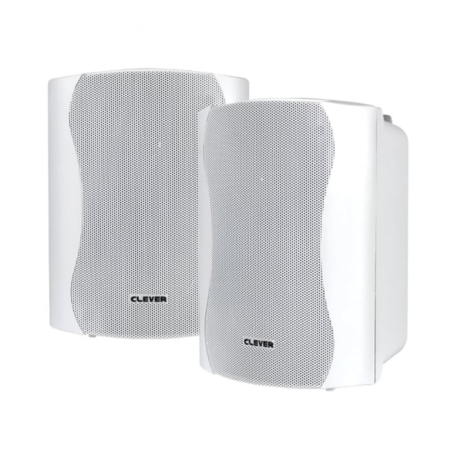 Clever Acoustics WPS 35 White 8 Ohm Weatherproof Speakers (Pair)
